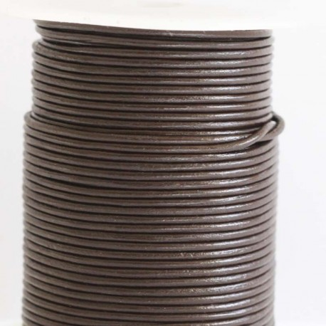 BeauMonde Jewelry - Leather 2 mm chocolate coil of 50 mt