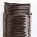 Leather 2 mm chocolate coil of 50 mt