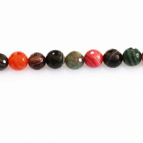 BeauMonde Jewelry - Agate 8 mm beads faceted red tones