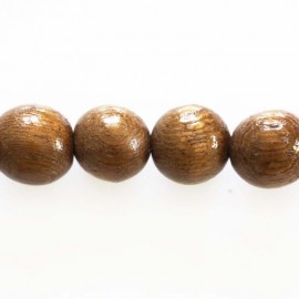 Round Pearl wood Robles 10 mm