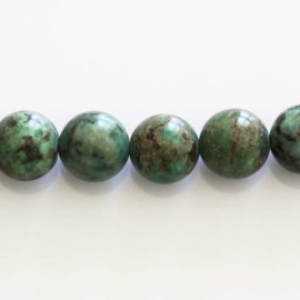 BeauMonde Jewelry - Turquoise 10 mm Africa natural round bead