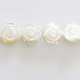 rose nacre blanche 13 mm