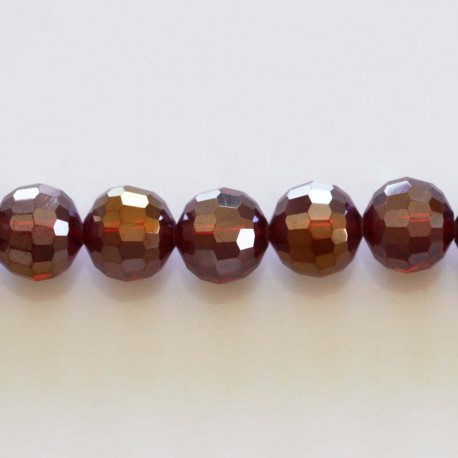 BeauMonde Jewelry - Faceted red bead SIAM AB 10 mm