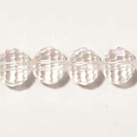 BeauMonde Jewelry - Faceted crystal glass beads 12 mm