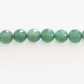 Aventurine 8 mm round faceted pearl