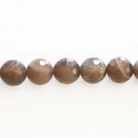 BeauMonde Jewelry - Sun stone 10 mm round faceted bead