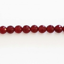 BeauMonde Jewelry - Agate 6 mm bead round faceted fuchsia