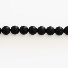 BeauMonde Jewelry - Agate 6 mm round bead matte black