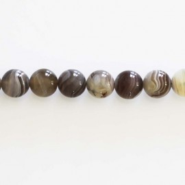 BeauMonde Jewelry - Agate Botswana 8 mm round bead