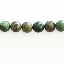 BeauMonde Jewelry - Turquoise 8 mm African natural round bead