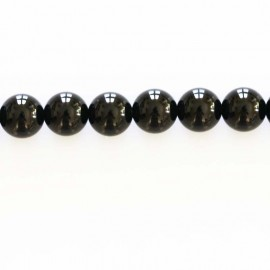 BeauMonde Bijoux - Onyx 8 mm perle ronde