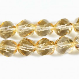 BeauMonde Jewelry - Pearl 12 mm glass of Bohemia large faceted honey