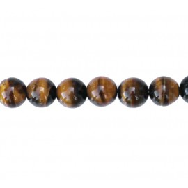 Tiger eye 8 mm round bead
