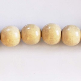 BeauMonde Jewelry - Wooden bead 15 mm round natural