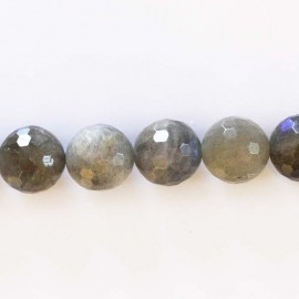 BeauMonde Jewelry - Labradorite 12 mm faceted pearl