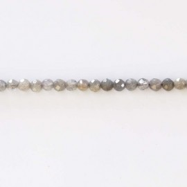 Labradorite 4 mm Pearl faceted