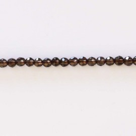 Smoky quartz 4 mm beads round faceted