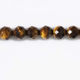 Tiger eye bead 8 mm faceted round