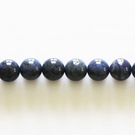 Dumortierite 8 mm round bead