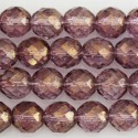 Pearl faceted 10 mm purple