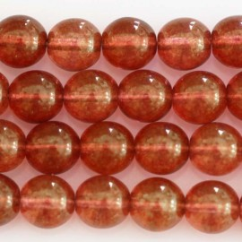 BeauMonde Bijoux - Perle ronde 8 mm rouge