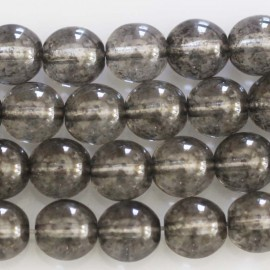 BeauMonde Jewelry - Round bead 8 mm grey