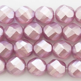 BeauMonde Jewelry - Pearl lacquered 12 mm round large faceted lilac