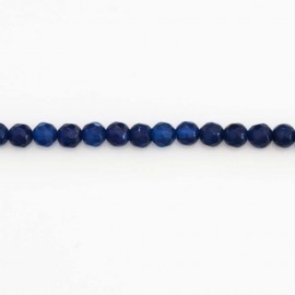 Agate 4 mm oil blue round faceted bead