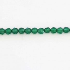 BeauMonde Jewelry - Agate 4 mm emerald green bead round faceted