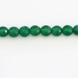 BeauMonde Jewelry - Agate 6 mm emerald green bead round faceted