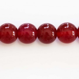 BeauMonde Jewelry - Agate 10 mm bead round fuchsia