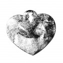 Full hammered heart 31X29 mm