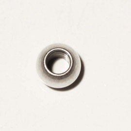 Flat brass bead 6 mm int 2.5 mm