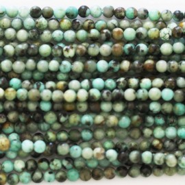Turquoise 2 mm African round pearl