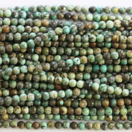 Turquoise afrique 3 mm perle ronde