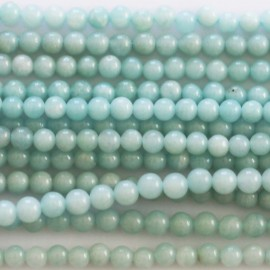 Amazonite 3 mm perle ronde