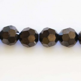 Round faceted glass bead 12 mm
