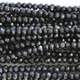 BeauMonde Jewelry - Glass bead 3 mm round faceted