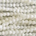 Mother-of-Pearl 4 mm white round bead
