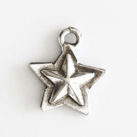BeauMonde Jewelry - Star s/star 17 mm silver metal