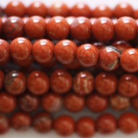 Red jasper 4 mm round bead Africa
