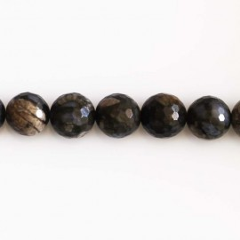 BeauMonde Jewelry - Opal grey 10 mm beads round faceted
