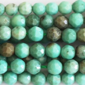 BeauMonde Jewelry - Opal green 4 mm faceted beads