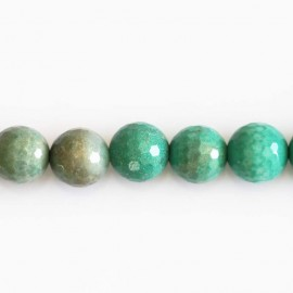 Opal green 10 mm faceted beads