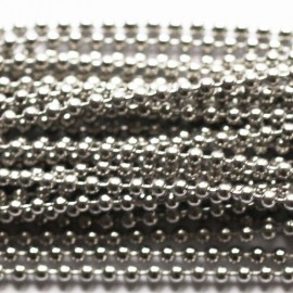 BeauMonde Jewelry - Chain beads 1.5 mm silver metal