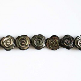 rose nacre grise 12 mm