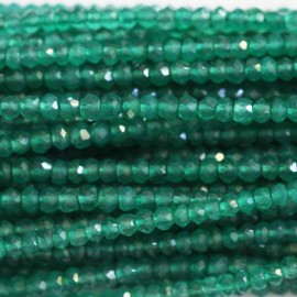 Agate green 3 mm faceted
