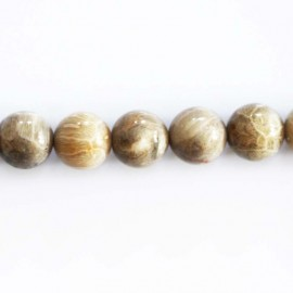 BeauMonde Jewelry - Fossil coral 10 mm round bead