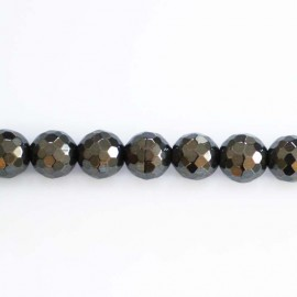 Hematite 8 mm beads round faceted