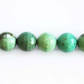 Opal green 12 mm faceted bead
